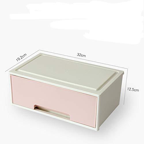 donfhfey827 Caja de Almacenamiento de Escritorio de cosméticos de joyería Tipo cajón Caja de Almacenamiento de clasificación de artículos pequeños