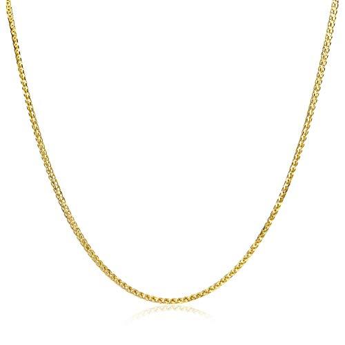 Miore gevlochten ketting uit 14 karaat 585/1000 geelgoud franko schakel met lengte 42 cm