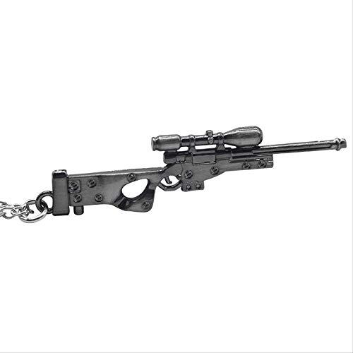 xtszlfj Hot Game Weapon Scharfschützengewehr Halsketten Vintage Punk Arms Guns Mode Anhänger 3D Imitation Gun Halskette