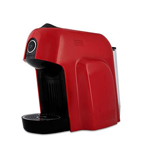 Bialetti Smart Macchina da Caffè Espresso per Capsule in Alluminio sistema Bialetti il Caffè d'Italia, 1200 W, Rosso