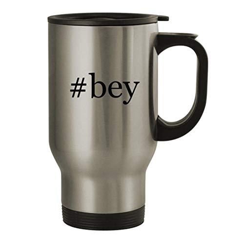 Slide Forward bey - 14oz Stainless Steel Hashtag Travel Coffee Mug, Silver