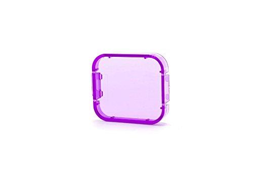 vhbw Korrektur-Filter Linsenschutz lila passend für Action-Kamera GoPro Hero 5, 6
