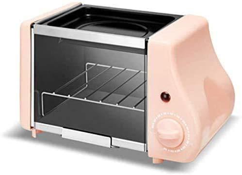 CattleBie Brotbackautomaten, Nette Mini Oven Fried Backen Zwei in einem Frühstück-Maschine Multi-Funktions-Brotröster 1-15min Timing-Röstmaschine 220W