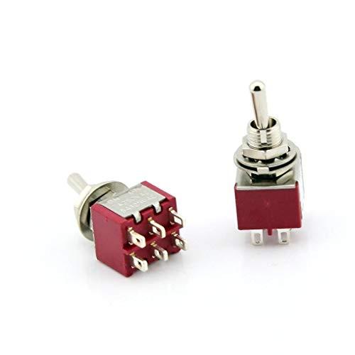 Cobeky Durable Mini Interruptor de Palanca de 3 Piezas DPDT Encendido-Apagado-Encendido