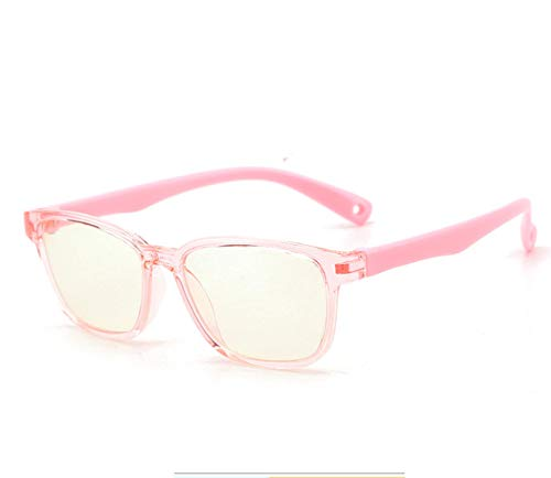 Anti-Straling Bril, Platte Spiegel Voor Kinderen Anti-Bijziendheid Computer Leesbril Computer Leesbril Met Blauw Anti-Licht Blokkerende Bril Voor Kinderen 3-12 Jaar Roze