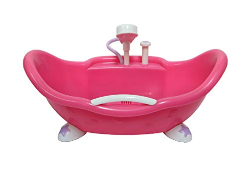 JC Toys Adorable Lil' Cutesies Bathtub with Shower Fits Most Dolls Up to 10'