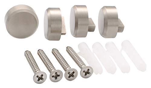 CRL Brushed Nickel Round Mirror Clips - Set by C.R. Lau