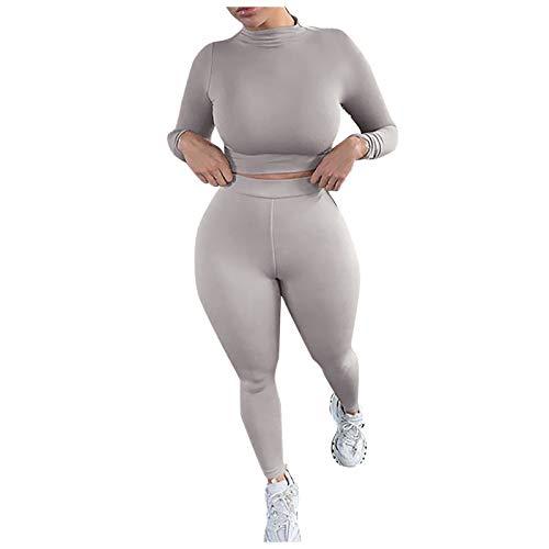 Shapeware, Mujeres Color sólido Cuello Alto Slim Yoga Fitness Pantalones de Manga Larga Shapeware, Ropa...