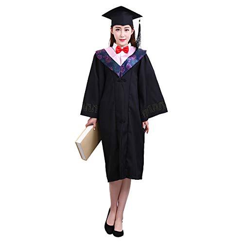 Amosfun Estola de graduación y Gorra con Juego de borlas para el bachiller de graduación de Regalo de maestría - Tamaño M