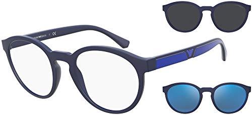 Emporio Armani Gafas de sol EA4152 57591W Gafas de sol hombre color Azul transparente tamaño de la lente 52 mm