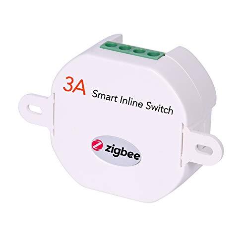 Interruptor de luz inteligente en línea ZigBee para actualizar el interruptor de luz existente con Echo Plus ZigBee Hub Bridge domótica y control de voz Alexa