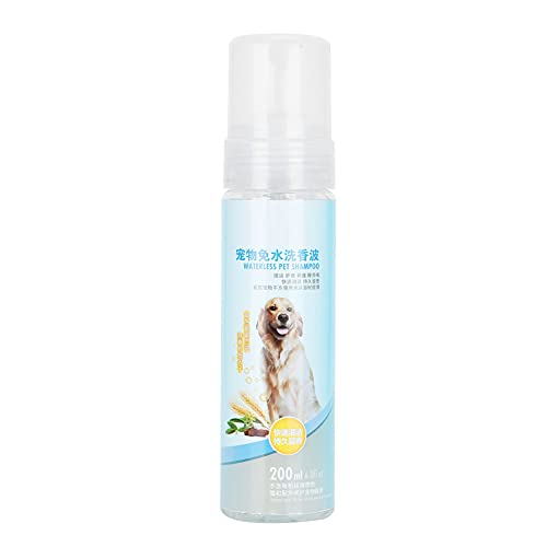 EVTSCAN Champús sin Agua para Perros, 200 ml, Espuma de Limpieza en seco para Mascotas, Desodorante, Gel de Ducha, prevención de Enfermedades de la Piel para Gatos, Perros, Ideal para Caminatas