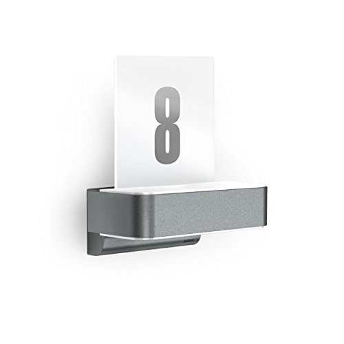Steinel LED Hausnummernleuchte L 820 S anthrazit, inkl. Hausnummern, 9,8 W, 679 lm, 160° iHF-Bewegungsmelder, max. 5m Reichweite