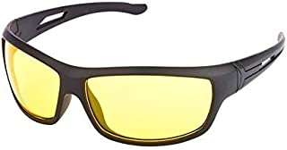 S.M Enterprises Nightdrive Driving Easy Day and Night HD Vision Anti-Glare Polarized Black Women's Sunglasses (Yellow)