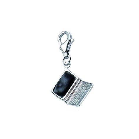 Charm ciondolo a forma di/portatile Ciondolo in argento Sterling 925 (11,2 x 14 mm)
