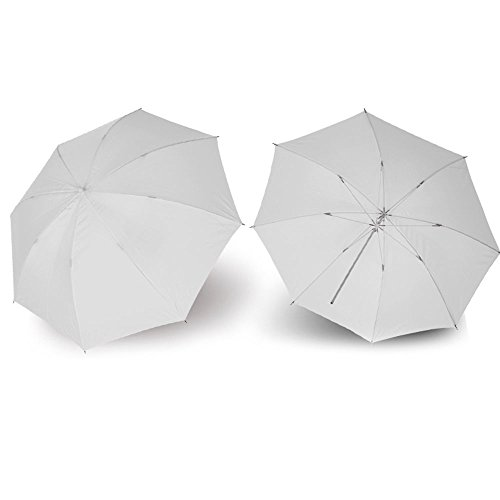 Leeofty 40in / 103cm Studioschirme Fotografie Regenschirm Studioblitzlichtdurchlässig Weiß Weiche Umbrella