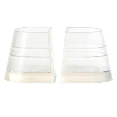 Holibanna Transparente Fersenstopper Fersenreparaturkappen Abdeckungen für Frauen Hochzeiten Rennen Formelle Anlässe Schutz vor Gras Kies Ziegel Risse Stil 3