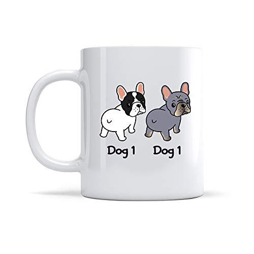 Personalized Dog Mug Custom Name French Bulldog Dear Mom Best Fccking Dog Mom Ever Mug From Your Favorite Funny Gift for Dog Mom Dog Dad Dog Memorial Cup 11-15oz Mug, 2 Dogs