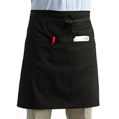 LEORX Delantal de cintura cocina cocina delantal de camarero corto delantal con...