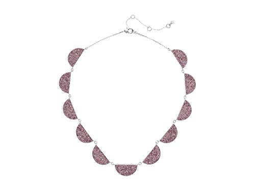 Kate Spade New York Mod Scallop Pave Necklace Light Amethyst One Size