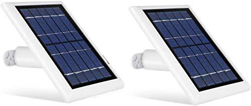 [Versión actualizada] Wasserstein – Panel Solar con Cable de 4 Metros Compatible con cámaras Arlo Essential Spotlight/XL Spotlight (2 Unidad, Blanco) (NO Compatible con Arlo Ultra, Pro/2/3, HD, Foco)