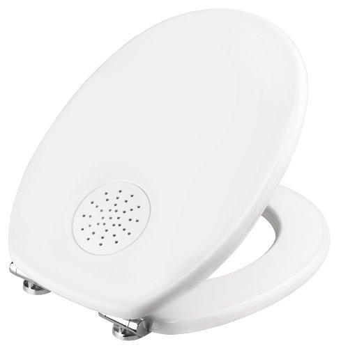 Cornat KSARO00 Toilet Seat with April Fresh Scented Box/Wooden MDF Core/White Varnish