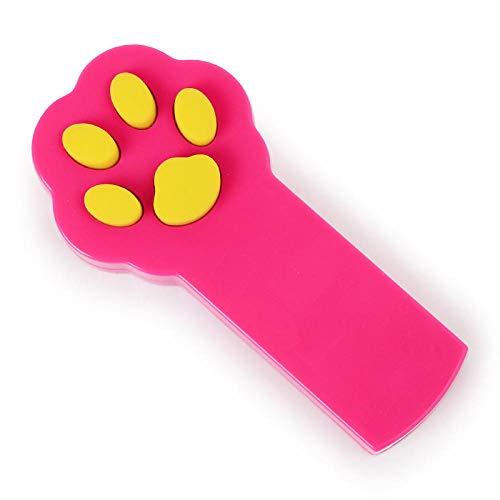 Kreative lustige Haustier LED Katzenspielzeug Katzen Zeiger Stift niedlichen Kätzchen Pfotenform interaktives Spielzeug-Rot