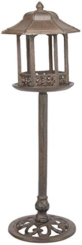 Cast Iron Free Standing Bird Feeder with Vintage Looking Lamp Post Design