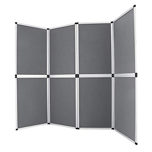 Buoqua HY09-1 Trade Show Display 8pcs folding display stand 61x91cm messewand faltwand room divider wall Presentation Board (HY09-1)