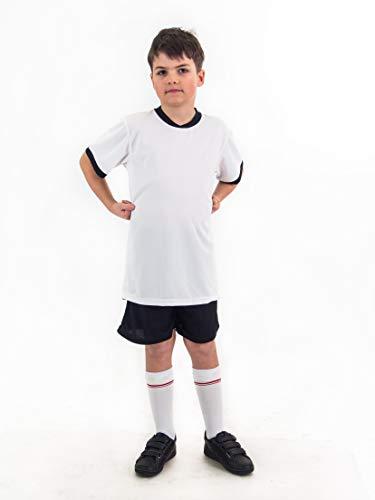 Fußball Trikotset Trikot Kinder für 4 Sterne Deutschland Geschenk Größe 116-176 T-Shirt für Textildruck/Textilfolie geeignet