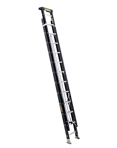 DeWalt DXL3020-24PT 24-Feet Fiberglass Extension ladder Type IA with 300-Pound Duty Rating, 24-Feet,Yellow