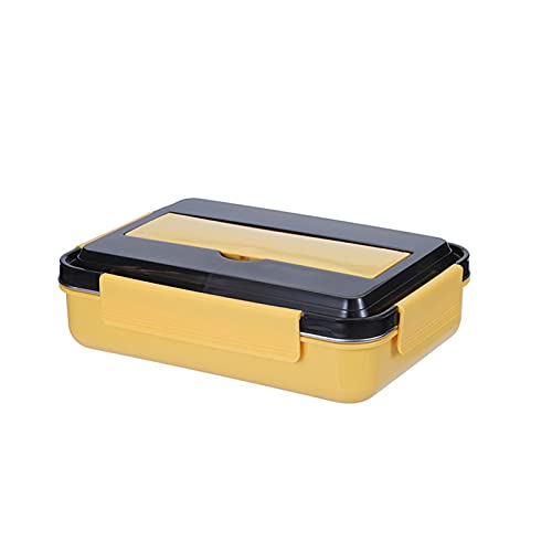 GXGX Caja de Almuerzo Bento Japanese Bento Box Let Tin Office Office Trabajador Almuerzo Caja Estudiante Bento Box Box Box Divisor Contenedores Comida Prepare Contenedore Yellow