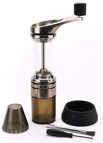 Lido 2 Manual Espresso & Coffee Grinder   48mm Swiss Conical Steel Burrs   Stepless Grind Adjustment