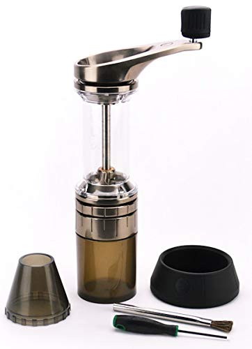 Lido 2 Manual Espresso & Coffee Grinder | 48mm Swiss Conical Steel Burrs | Stepless Grind Adjustment