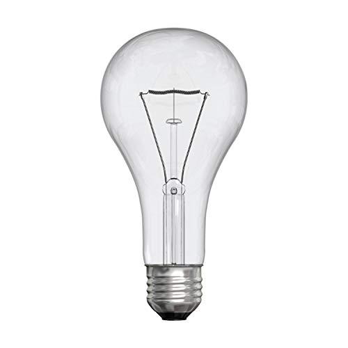 GE Crystal Clear Incandescent A21 Light Bulb, 150-Watt, 2710 Lumen, Medium Base, Clear Light Bulbs, Soft White, 1-Pack, General Purpose Light Bulbs