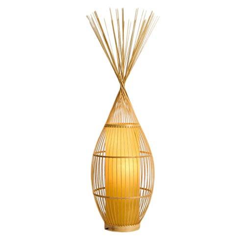 Lámpara de pie Luz de pie Lámparas Verticales Luces Lámpara de pie Minimalista Moderna Tatami japonés Sala de Estar Lámpara de pie Salón de té Arte Espacial Zen Lámpara de bambú Hotel B&B Luces