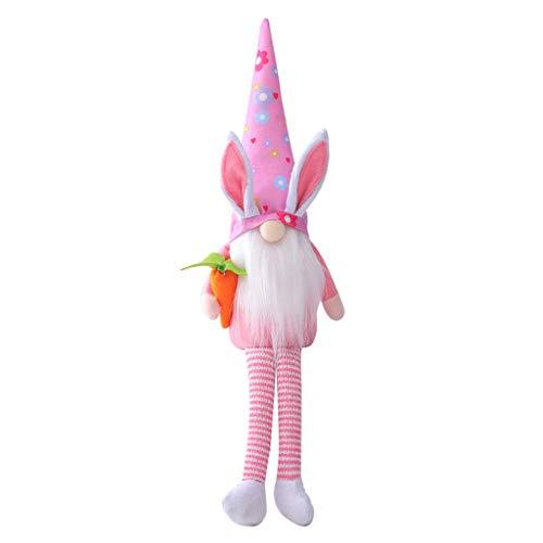 Gnomos de conejo de Pascua hechos a mano sueco Tomte conejo Felpa Ornamento de primavera regalo utilidad para usar