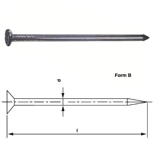 Drahtstift Nagel Nägel Senkkopf feuerverzinkt DIN 1151 versch. Größen, Maße/Menge:4.2 x 120 mm (5.0 kg)