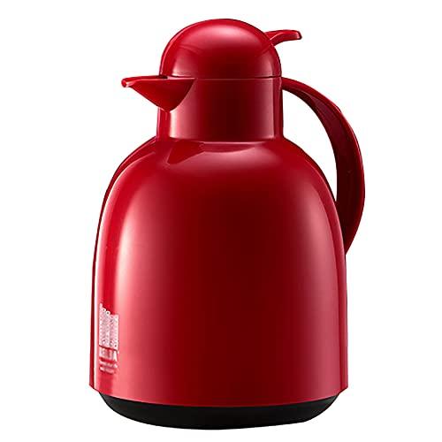 Pote de Aislamiento, Botella de Agua Caliente para el hogar, termos de Agua hirviendo, Gran Capacidad Dormitorio de Estudiantes TERMOS 2.2L, Termo de vacío de Doble Pared (Rojo)