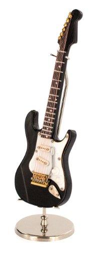 Anne Fuzeau Creation Guitarra eléctrica Miniatura Negra - de Madera barnizada -...