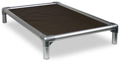 Kuranda All-Aluminum (Silver) Chewproof Dog Bed - XXL (50x36) - Vinyl Weave -...