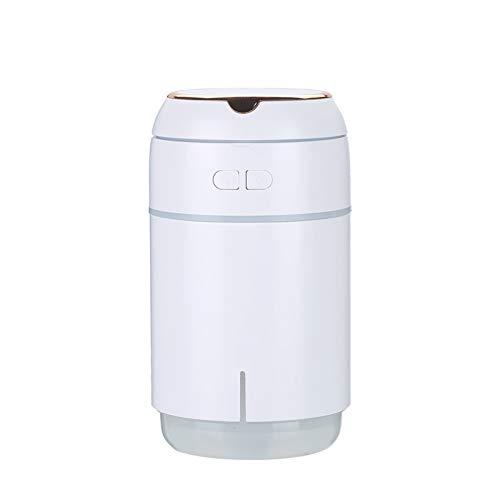 Humidificador creativo, atomizador de aire USB, oficina con dormitorio de oficina Humidificador de prevención seca de invierno, humidificador de luz de gran capacidad, lámpara de aromaterapia colorida