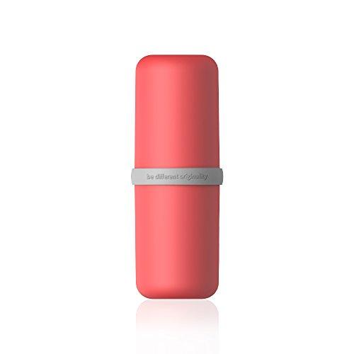 Olliwon portátil de Viaje al Aire Libre del Cepillo de Dientes Caja de Almacenamiento de Dientes Titular Taza de Pasta de Dientes de baño Accesorios Organizador de la Copa - Rojo