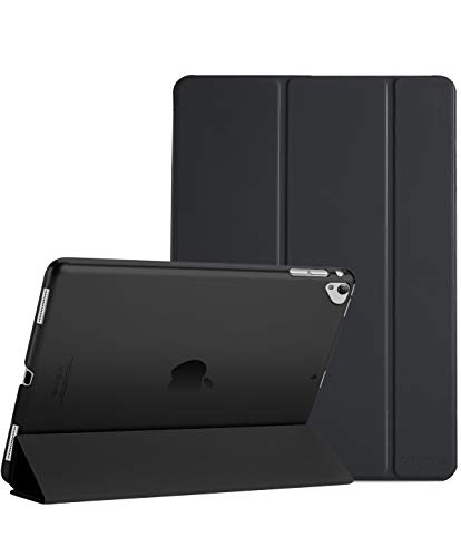ProCase iPad Pro 12.9 Inch 2017/2015 Case Cover (Old Model, 1st and 2nd Generation), Ultra Slim Lightweight Stand Smart Folio Case, with Translucent Frosted Back Cover –Black