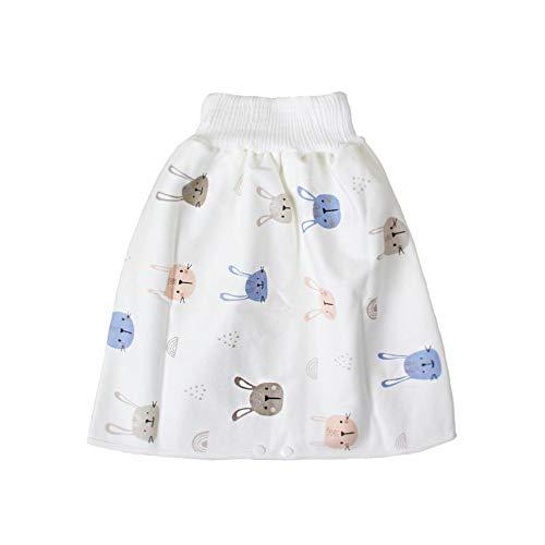 AKlamater Baby-Wickelrock für Kleinkinder, Cartoon-Shorts, Baumwolle, waschbar, wiederverwendbar, saugfähig, für Kinder von 0–8 Jahren (L)