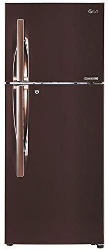 LG 260 L 3 Star Inverter Linear Frost-Free Double-Door Refrigerator (GL-T292RASN, Amber Steel,...