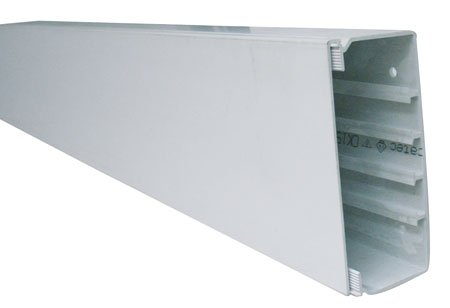 Kabelkanal 140x60mm Kunststoffkanal Verdrahtungskanal Leitungskanal reinweiss 2m mit Deckel PVC Kanal Brustungskanal