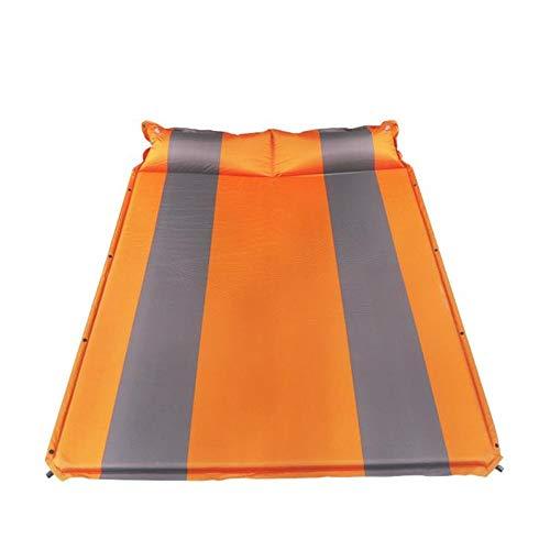 Strandzelt Camping Pads selbstaufblasender kompakter Schaum Camping Pads mit anhängendem Kissen wasserdichte leichte Doppelgröße für 2 Personen aufblasbare Außenluftmatratze Camping Zelt