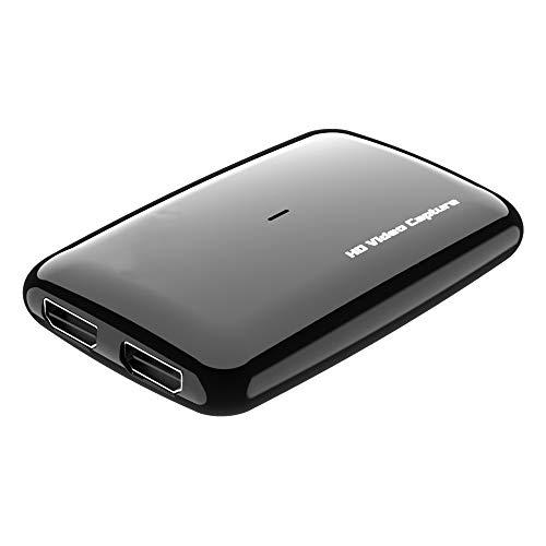 Y&H - Tarjeta de Captura de vídeo HD USB 3.0 con Entrada/Salida HDMI 4 K, Entrada Micro para comentario, Tarjeta de Captura Continua de 1080p 60 fps para Nintendo Switch, PS3, PS4, Wii U