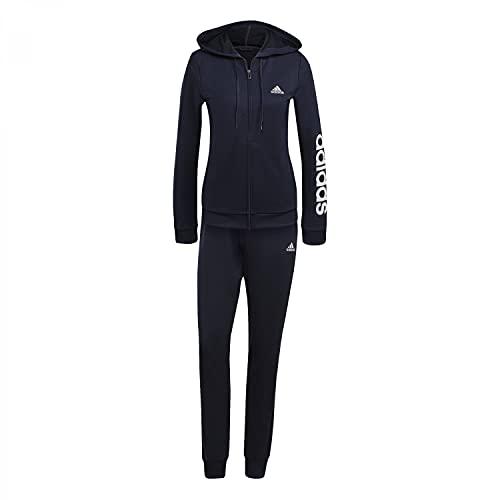 adidas Damen W Lin Ft Ts Sportanzug, Tinley/Weiß, XL